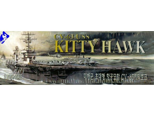 Academy maquette bateau 1444 CV-63 Kitty Hawk 1/800