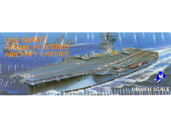 Academy maquette bateau 1439 USS Nimitz 1/800