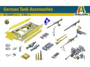 italeri maquette militaire 6424 Char Allemand Accessoires 1/35