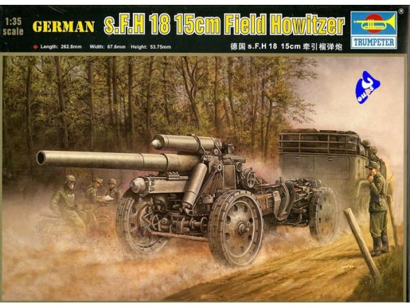 Trumpeter maquette militaire 02304 15cm s FH. 18 1/35