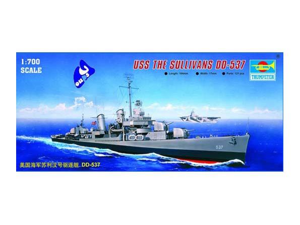 trumpeter maquette bateau 05731 USS THE SULLIVANS DD-537 1/700