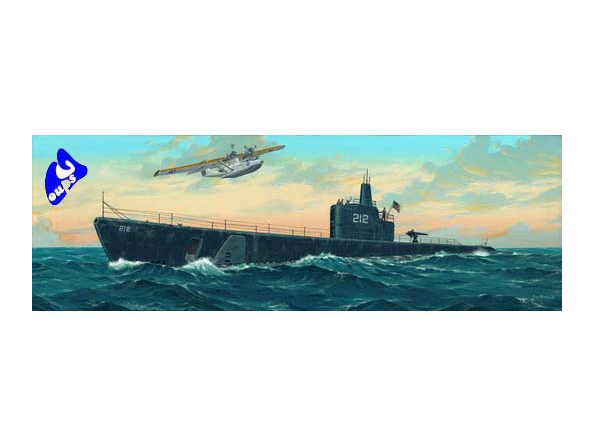 Trumpeter maquettes sous marin 05905 USS GATO SS-212 1941 1/144