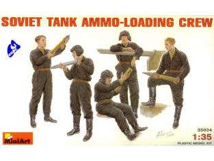 mini art maquette militaire 35034 EQUIPAGE DE CHAR SOVIETIQUE 1/