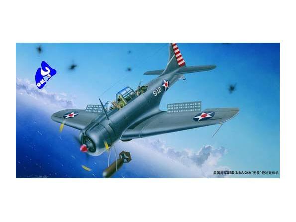 "Trumpeter maquette avion 02242-sf SBD 2/3 ""DAUNTLESS"" pilote 1/3"