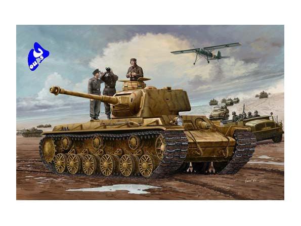 trumpeter maquette militaire 00366 Pz Kpfm KV-1 756(r) 1/35
