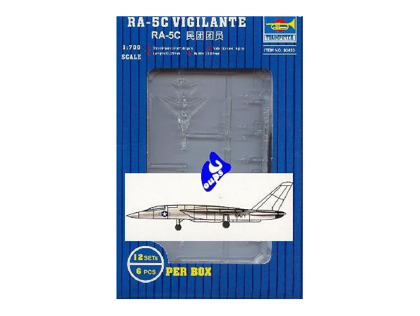 Trumpeter maquette avion 03420 RA-5C VIGILANTE 1/700