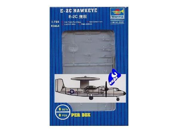 Trumpeter maquette avion 03430 E-2C HAWKEYE 1/700
