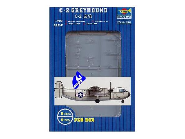 Trumpeter maquette avion 03431 C-2 GREYHOUND 1/700