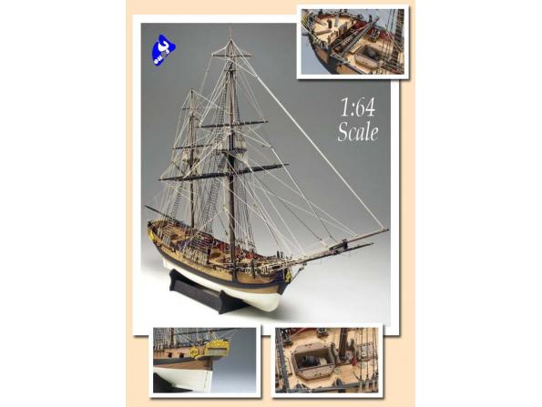 Amati Kit bateau bois 1300/02 H.M. GRANADO 1/64