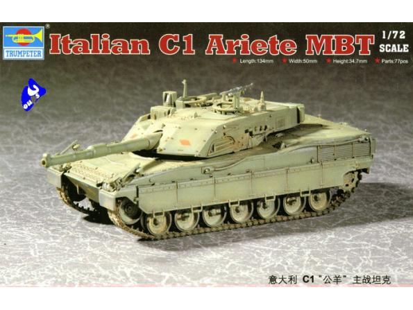 """Trumpeter maquette militaire 07250 C1 """" ARIETE"""" 1/72"""