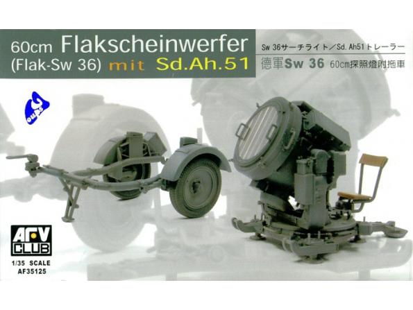 AFV maquette militaire 35125 PROJECTEUR 60cm SWG36 1/35