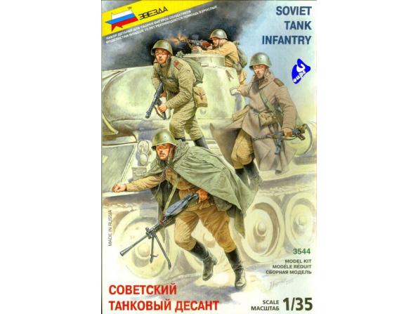 Zvezda maquette plastique 3544 Infanterie sovietique 1/35