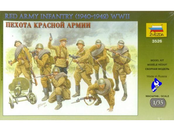 Zvezda maquette plastique 3526 Infanterie Armée Rouge 1/35