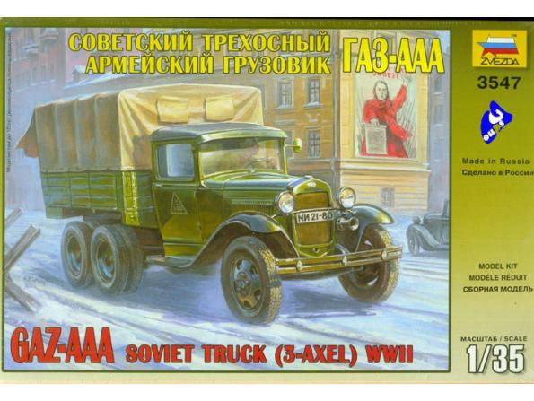 Zvezda maquette plastique 3547 Camion Gaz-AA 1/35