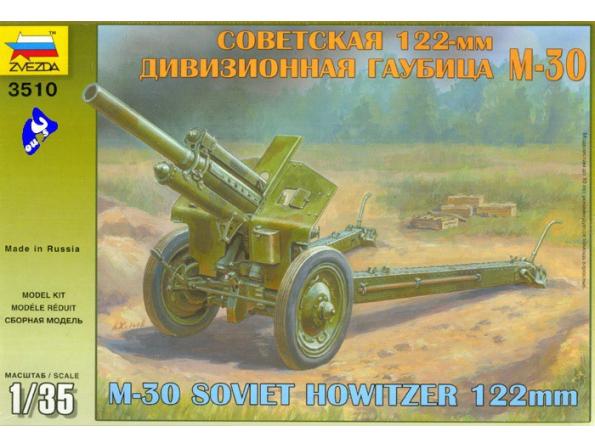 Zvezda maquette plastique 3510 Obusier soviet M30 1/35