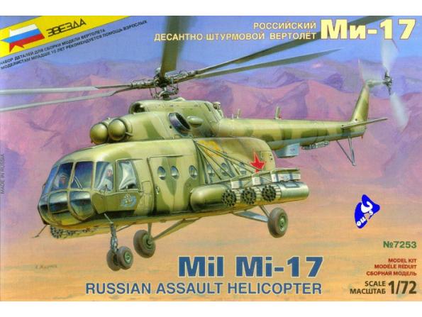Zvezda maquette avion 7253 Mil Mi-17 1/72