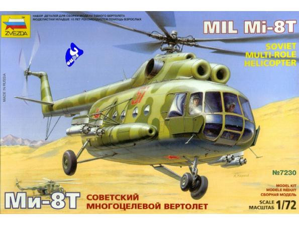 Zvezda maquette avion 7230 Mil 8T 1/72