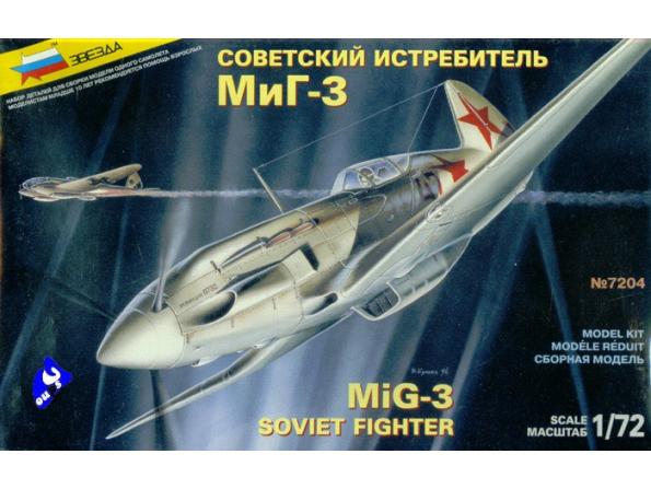 Zvezda maquette avion 7204 Mig-3 1/72