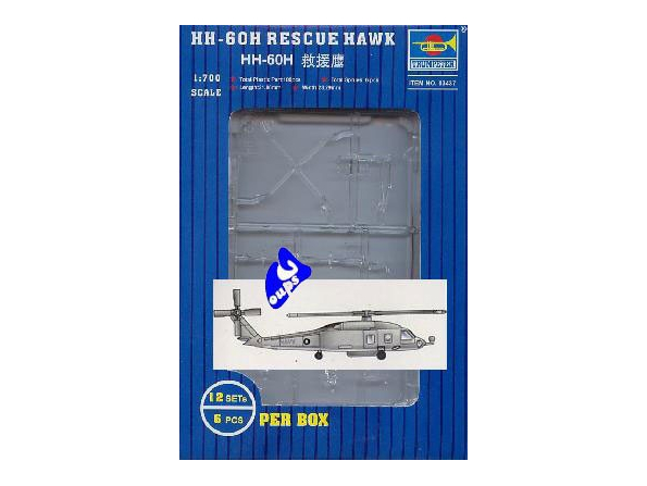 Trumpeter maquette avion 03437 HELICOPTERES HH-60H RESCUE HAWK 1