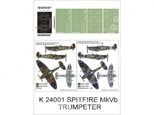 Montex Super Mask K24001 Spitfire Mk VB Trumpeter 1/24