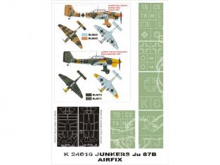Montex Super Mask K24010 Junkers Ju-87B-2 Airfix 1/24