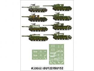 Montex Super Mask K35002 Zwierboj Partie 1 ISU-122 / ISU-152 Dragon / Zvezda 1/35