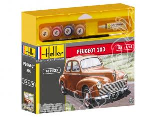 HELLER maquette voiture 50160 PEUGEOT 203 kit complet 1/43