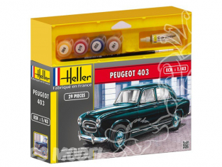 HELLER maquette voiture 50161 PEUGEOT 403 kit complet 1/43