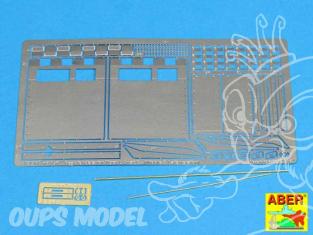 Aber 16051 Fenders arriere pour Tigre I Ausf. E Fin de production Hobby Boss 1/16