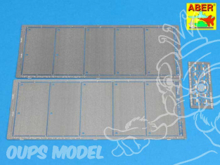 Aber 25011 Side skirts pour Panther Ausf. G & Jagdpanther Academy & Tamiya 1/25