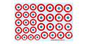 Decalques Berna decals BD-09 Cocardes Francaises 35-40 4-16mm