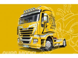 ITALERI maquette camion 3898 Iveco Stralis Yellow Devil 1/24