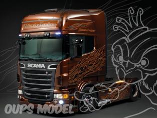 ITALERI maquette camion 3897 Scania R730 Black Amber + peinture Metal Amber 1/24