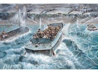 Italeri maquette bateau 6524 LCVP et Infanterie US 1/35