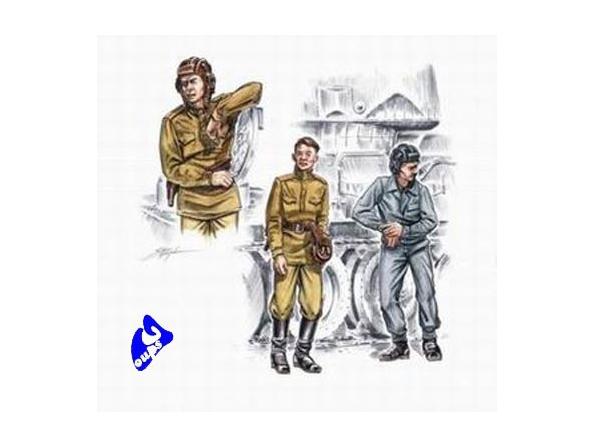 CMK figurine 72139 EQUIPAGE DE CHAR SOVIETIQUE 1/72