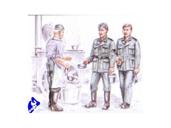 CMK figurine 72143 CUISINIER ET SOLDATS ALLEMAND 1/72