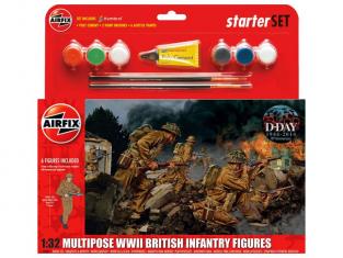 Airfix maquette militaire 55211 model set Infanterie Britanique 1/32