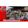 Airfix maquette militaire 02339 Jeep aéroportée anglaise avec remorque et 75mm pack 1/72