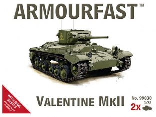 ARMOURFAST maquette militaire 99030 VALENTINE MKII 1/72