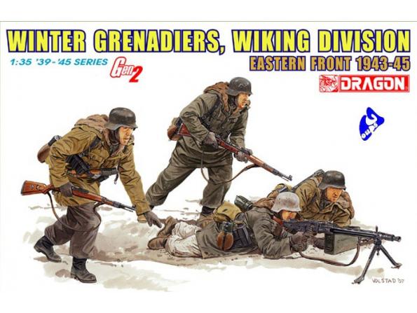 Dragon maquette militaire 6372 Winter grenadiers 1/35
