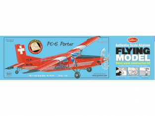 Maquette Guillow's avion bois 304 PILATUS PC-6 PORTER 1/24