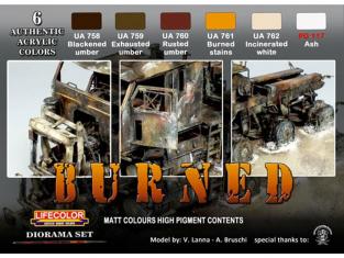 LIFECOLOR peinture CS29 Set pour Aspects Brulés