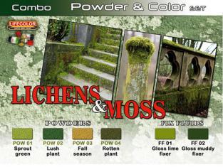 LIFECOLOR peinture SPG06 Set Lichens et Mousse