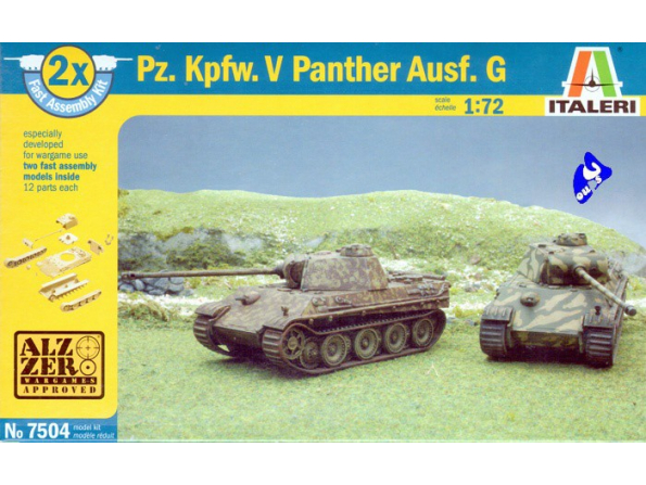Italeri maquette militaire 7504 Panther V wargame 1/72