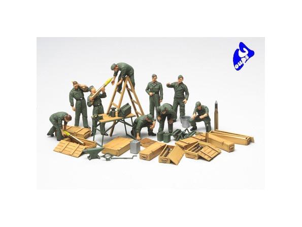 tamiya maquette militaire 32547 Tank Crew Field Maintenance 1/48