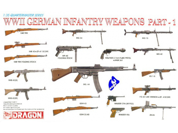 Dragon maquette militaire 3809 armement Allemand 1/35