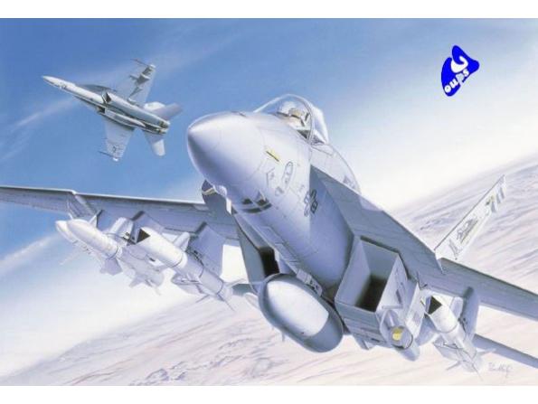 italeri maquette avion 0083 f/a-18e 1/72