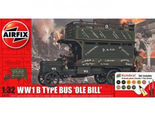 Airfix maquette bus 50163 WWI Ole Bill Bus Gift Set 1/32