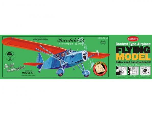 Guillow's kit avion bois 701 FAIRCHILD 24