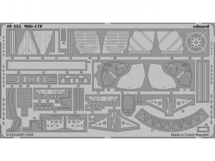 EDUARD photodecoupe 49455 MIG-17F S.A. Hobby Boss 1/48